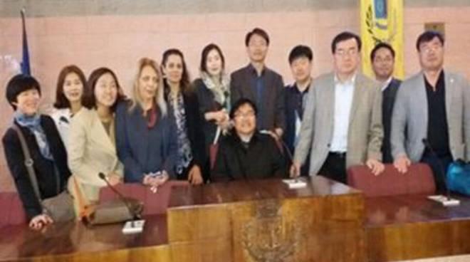 Delegazione coreana in visita al Comune