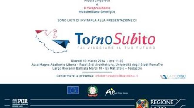 """Regione Lazio. Al via l'iniziativa """"Torno Subito"""",che finanzia esperienze integrate di studio"""
