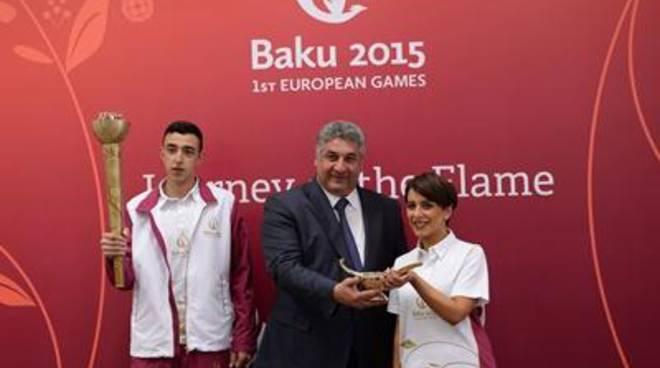 Baku 2015, la Fiamma Olimpica Europea prende vita