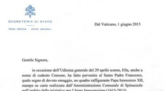Papa Francesco ringrazia e benedice la Città di Anzio