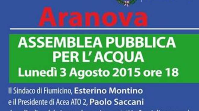 Aranova, assemblea pubblica per l'aqua