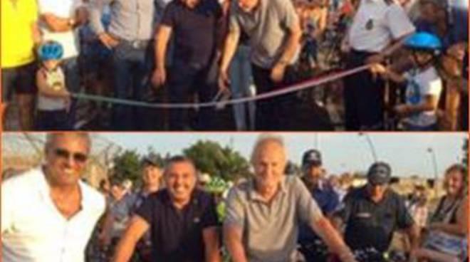 Inaugurata la nuova pista ciclabile che collega Fiumicino con Focene