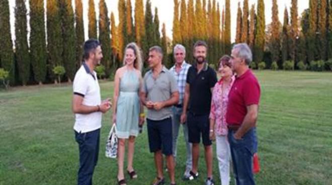 L'ex ministro Pecoraro Scanio visita i Giardini della Landriana