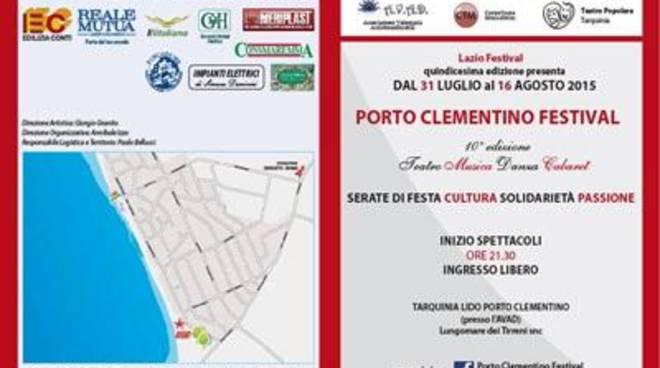 Porto Clementino Festival.Serate di festa, solidarietà, passione, cultura