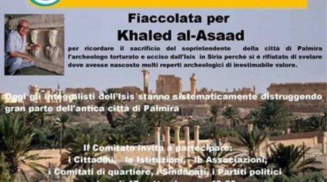 Fiaccolata per Khaled al-Asaad