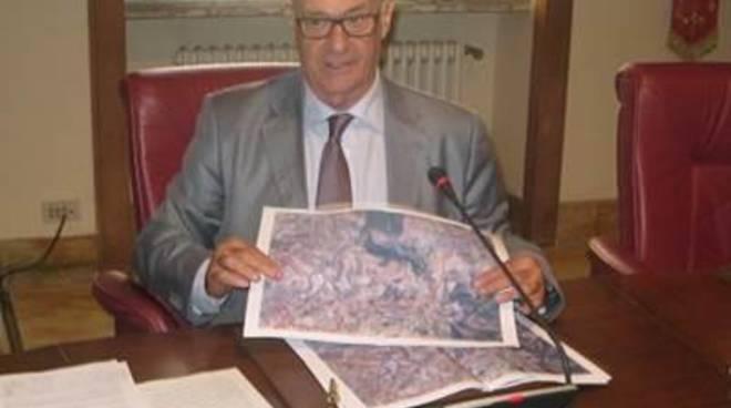 Il presidente Mazzola in visita al cantiere di 'Gloria'