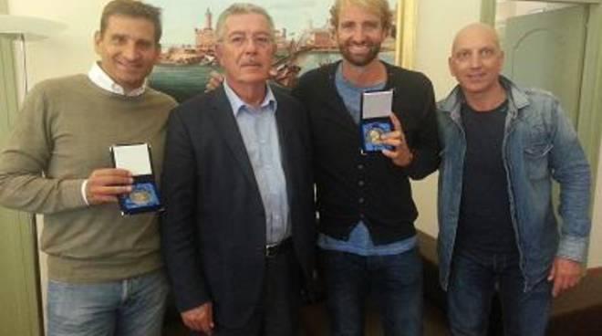Il campione olimpico Rosolino, in visita a Villa Sarsina