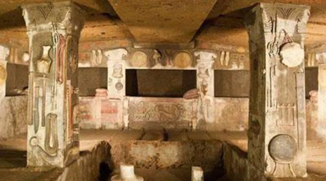 Cerveteri, dopo 30 anni la Tomba dei Rilievi torna visitabile al suo interno