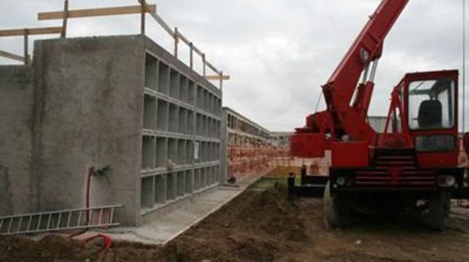 In fase di completamento i lavori degli 80 loculi del lotto 4° del corpo B del cimitero