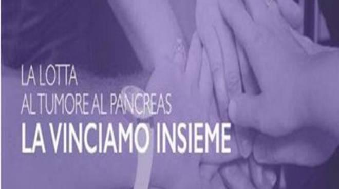 Un drappo viola contro il tumore al pancreas