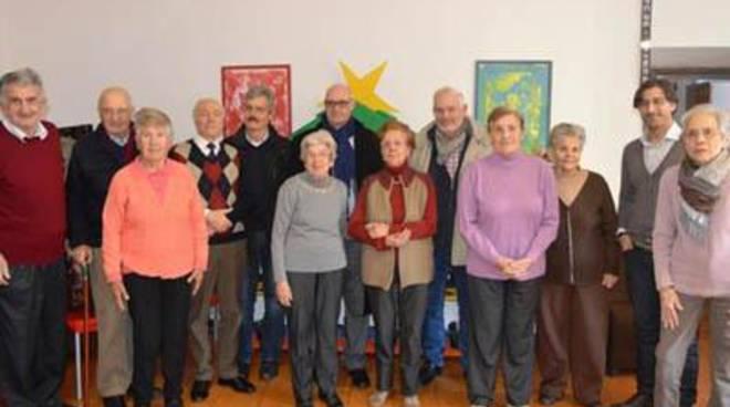 Visita del sindaco Mazzola al centro per i malati di Alzheimer per gli auguri di Natale<br />