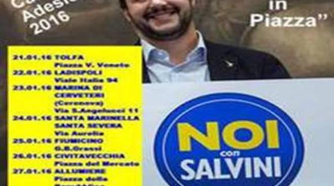 """Parte la campagna di adesioni al movimento """"Noi con Salvini""""<br />"""