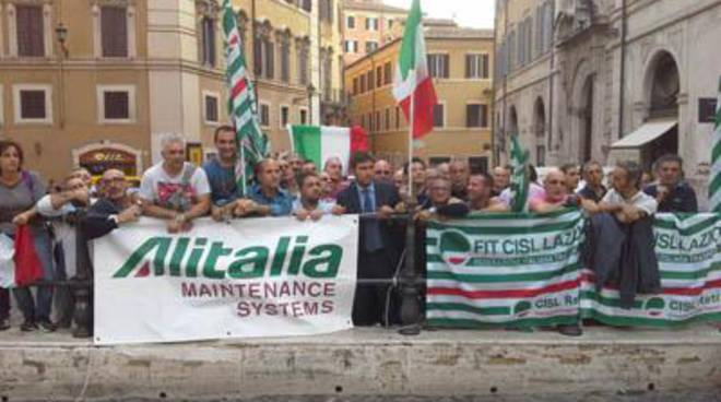 Alitalia Maintenance Systems, sit in dei sindacati