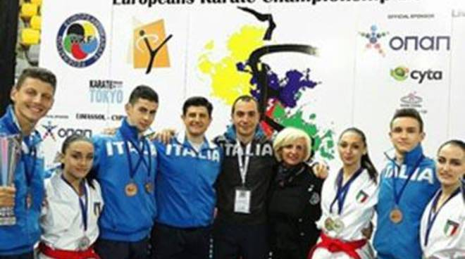 Campionati Europei di Karate Giovanili Ekf, gli azzurrini fanno 18 nel bottino italiano<br />