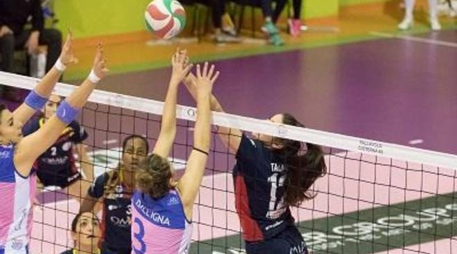 L'Omia Volley Cisterna fermato a Palmi