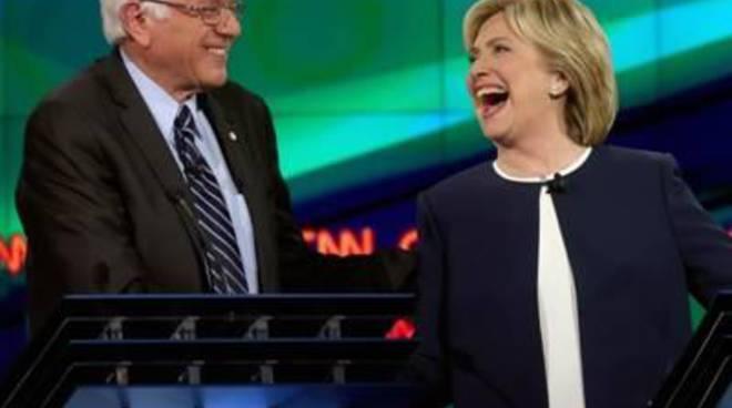 Primarie Usa: Clinton e Sanders si scontrano in duello televisivo