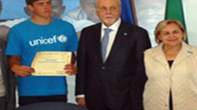"""Unicef: """"Complimenti a Mattia Camboni per il titolo di campione del Mondo"""""""
