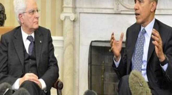 Vertice Obama - Matterella: piena intesa sulla Libia