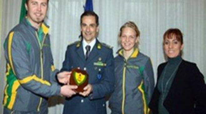 I campioni delle Fiamme Gialle di Torino 2006 ricevuti dal Comandante Regionale Piemonte
