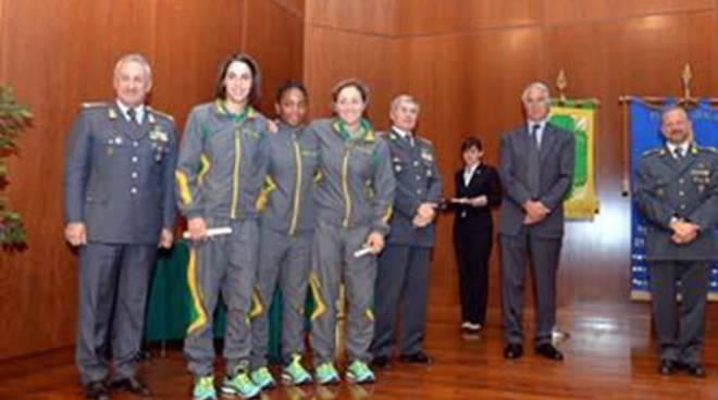 Quintavalle, Galeone e Gwend. Le campionesse del judo italiano premiate dalla Guardia di Finanza