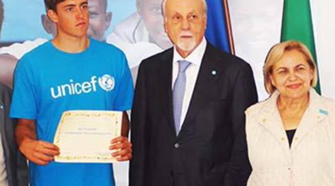 <span>Unicef di Civitavecchia si congratula con Mattia Camboni</s