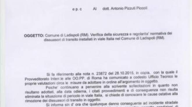 Varchi su viale Italia: nuova intimazione del Ministero ai danni del Comune