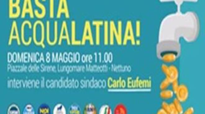 Basta Acqualatina. Domenica la manifestazione con Carlo Eufemi