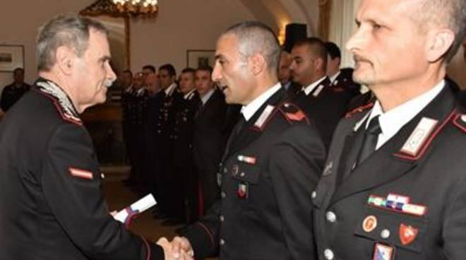 Consegnati i riconoscimenti ai militari meritevoli dell'Arma