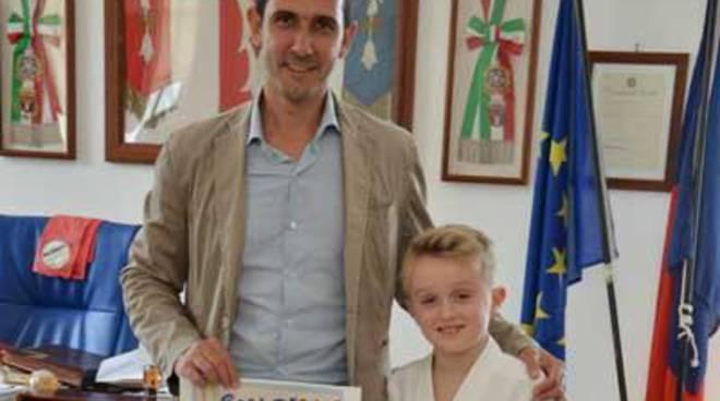 Eccellenze del territorio, il Sindaco incontra il giovane atleta Cristian Pezzarossa