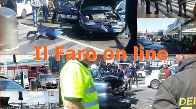 Nuovo allarme bomba in aeroporto. Gli artificieri fanno saltare un'auto della polizia penitenziaria