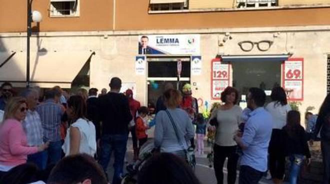 Prima uscita di Davide Lemma da candidato sindaco ufficiale