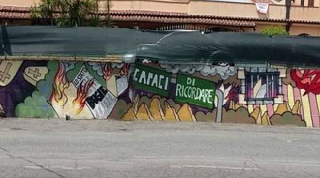 Un murales per ricordare la strage di Capaci
