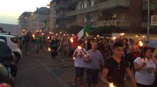 CasaPound: in 500 in corteo a Nuova Ostia contro gli sgomberi
