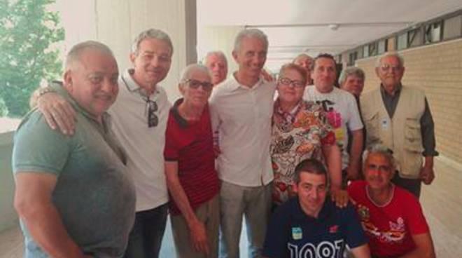 Damiano Coletta in visita agli Stecconi