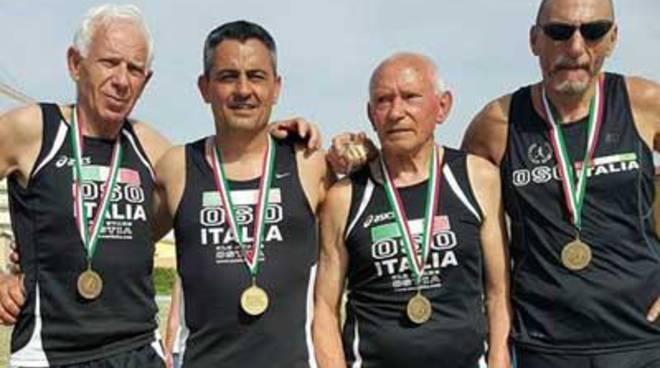 La Old Stars Ostia riporta 8 medaglie dai Campionati Master di Atletica Leggera
