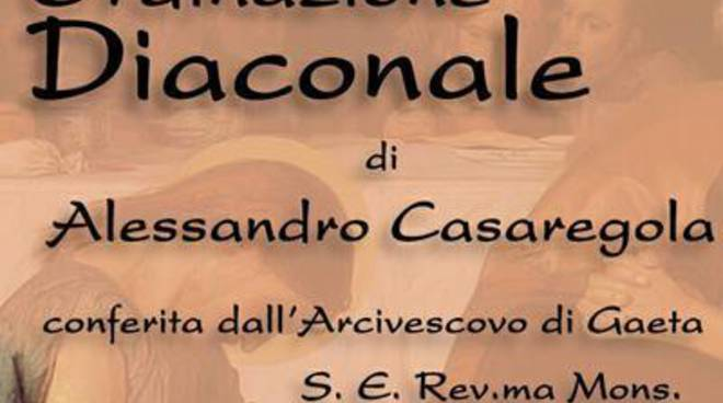 Basilica di Gaeta, il 29 luglio l'ordinazione diaconale diAlessandro Casaregola