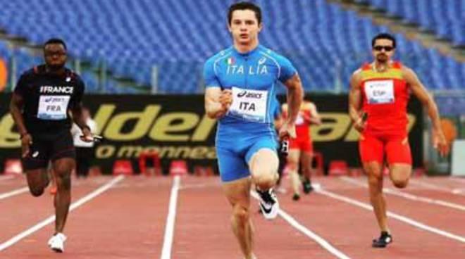 Filippo Tortu, Fiamme Gialle, argento mondiale nei 100 metri, agli Under 20 di atletica leggera
