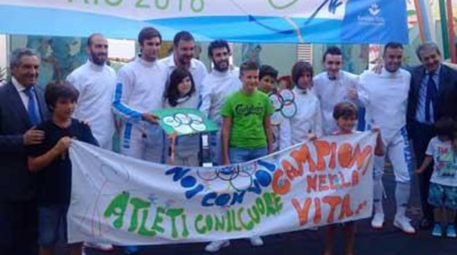 I pazienti del Bambino Gesù alle Olimpiadi di Rio, insieme ai campioni della scherma