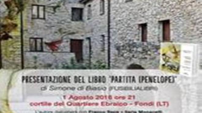 """Lunedì la presentazione del libro """"Partita (Penelope)"""" di Simone Di Biasio"""
