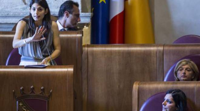 virginia raggi in aula