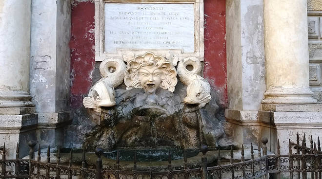 fontana mascherone