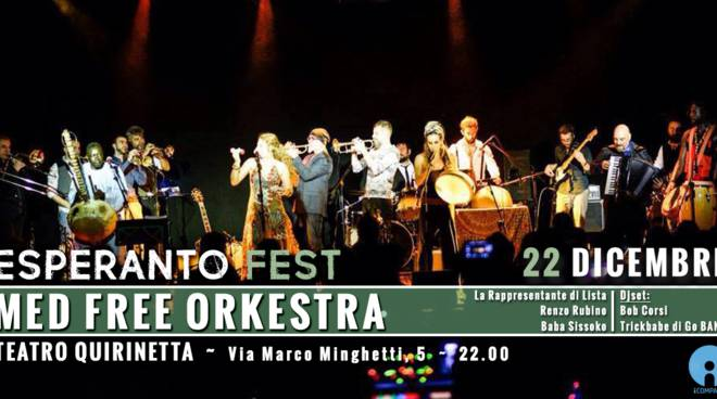 Esperanto Fest, Med Free Orkestra al Quirinetta il 22 dicembre