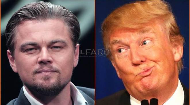 Leonardo Di Caprio Donald Trump