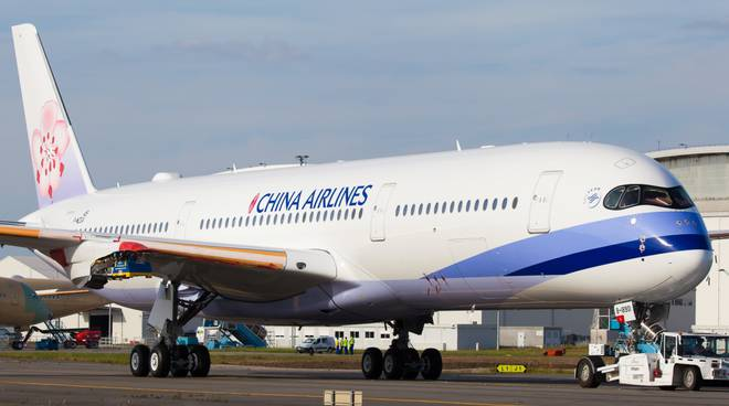 airbus china airlines a fiumicino