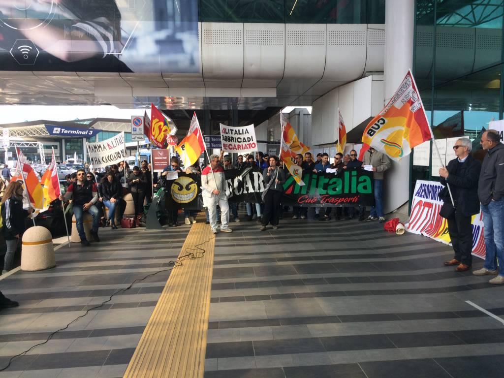 sciopero lavoratori alitalia