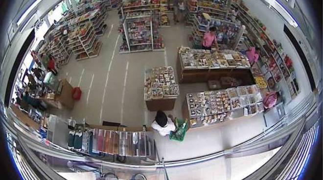 telecamere furto supermarket