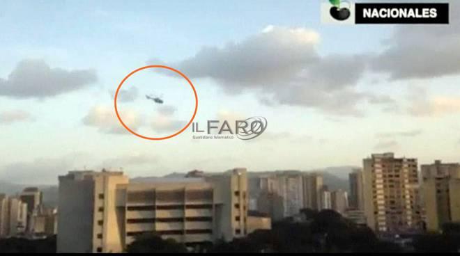 venezuela, attacco in elicottero