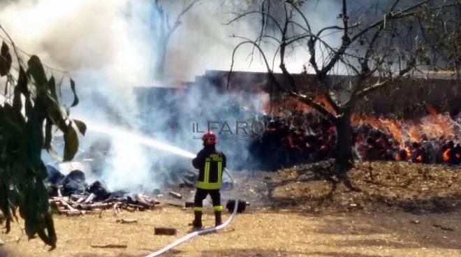 incendio parco di Veio, Sant'Andrea