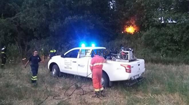 pich up protezione civile incendio
