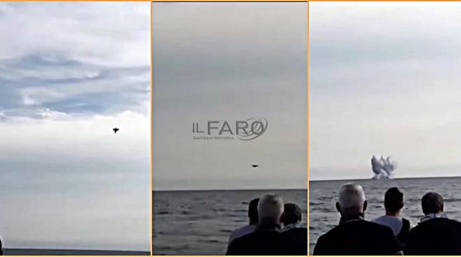 aereo perecipita air show terracina